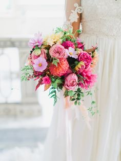 20 Bright Wedding Bouquets | SouthBound Bride | Credit: Rachel May Photography/Fête Weddings/Nature Composed
