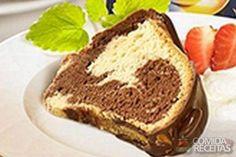 Receita de Bolo de cappucino marmorizado em receitas de bolos, veja essa e outras receitas aqui!