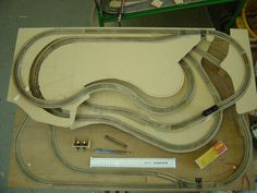 Some folks have asked to see the track layout plan, I've not got the darwing anymore but I do have some early photos of the start of construction. N-gauge layout - The Rabbit Warren making of 02 N Scale Train Layout, N Scale Layouts, Model Train Layouts, N Scale Model Trains, Scale Models, Model Railway Track Plans, Hobby Trains, Bmw, Train Set