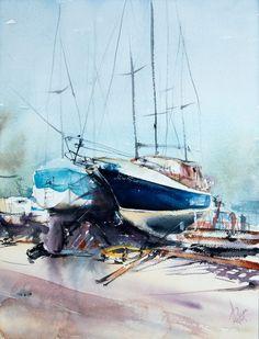 Paintings For Sale, Watercolor Paper, Lovers Art, Poland, Buy Art, Boat, Horses, Sky, Artist