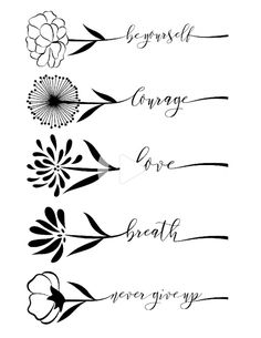 Little Floral Inspirations - By Yenty Jap temporary tattoos and fake tattoos by EasyTatt - Look 100% real #tattoo ideas small quotes #handtattoos Hand Tattoos For Women, Wrist Tattoos For Women, Small Wrist Tattoos, Fake Tattoos, Word Tattoos, Body Art Tattoos, Side Hand Tattoos, Real Tattoo, Back Of Neck Tattoos For Women
