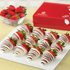 Swizzle Berries White Chocolate Box (Edible Arrangements®) w/ Blue Swizzle