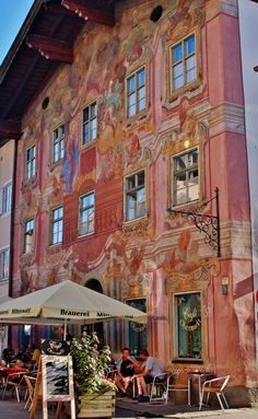 everything is painted in Mittenwald, Germany, including this hotel.
