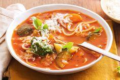 Broken spaghetti and pancetta soup main image