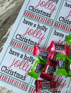 Holly Jolly Christmas Tags FREE printable
