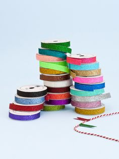 Pack of 24 thin glitter tapes. Tapes are 9.5mm x 1.2 long each.