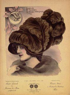 Hats from Expostion Universalle, Paris, 1900 Victorian Hats, Image Paper, Female Pictures, Original Movie Posters, Belle Epoque, Famous Artists, Vintage Art, Vintage Ladies, Art Images