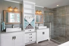 Custom Bathroom by South Shore Cabinetry, Vancouver Island, BC #bathroom #customcabinetry #interiordesign