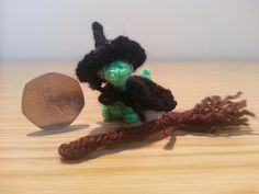 Miniature Dinosaur- Dinosaurs - Morgan - Witch - Multicolured - Green - Halloween - Knitted - OOAK - Gift - Adults - Teens - Alternative by Suzzlescraft on Etsy