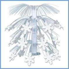 Buy Snowflake Cascade Centerpiece Create a winter wonderland for your party space by decorating with this Snowflake Cascade Centerpiece! Whether you are throwing a Christmas party or just a winter party, this centerpiece is sure to be a hit. Christmas Party Centerpieces, Snowflake Centerpieces, Frozen Party Decorations, Winter Centerpieces, Table Centerpieces, Winter Decorations, Centerpiece Wedding, Table Wedding, Centrepieces