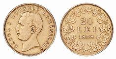 Istoria Leului Hidden Treasures, Gold Coins, Personalized Items, Money, Vintage, Romania, Primitive, Silver