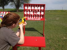 Nerf Shooting Gallery Carnival Game for Birthday by NorTexEvents, $299.00
