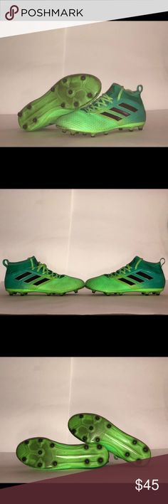 ADIDAS ACE 17.3 (SOLAR GREEN/ BLACK/CORE GREEN) Good shape game and practice worn. 100% authentic. There is no box. adidas Shoes Athletic Shoes