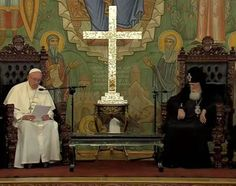 Pope Francis meets with Ilia II, the Georgian Orthodox Catholicos and Patriarch of All Georgia, in Tbilisi, Sept. 30, 2016. Credit: CTV