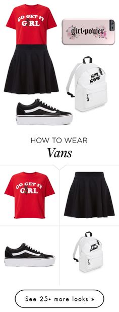 """woman are the future!"" by itzjustaida on Polyvore featuring Miss Selfridge, Vans, womensHistoryMonth, pressforprogress and GirlPride"