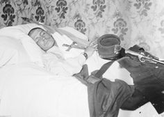 A young french soldier on his deathbed