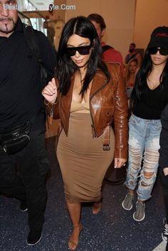 awesome Kim Kardashian LAX Airport   Style 2015