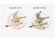 Hunger Games brož - reprodrozd. Brož s motivem ze známého filmu Hunger Games - reprodrozda.