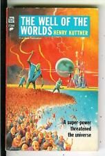 THE WELL OF THE WORLDS by Kuttner, rare US Ace sci-fi pulp vintage pb Schomburg