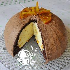 ZUCCOTTO POMARAŃCZOWE W MOJEJ ZIMOWEJ WERSJI Unique Desserts, Polish Recipes, Polish Food, Cookie Desserts, International Recipes, Sweet Recipes, Food To Make, Cake Decorating, Sweet Treats