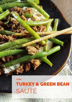 Asian Turkey and Green Bean Sauté from MomAdvice.com