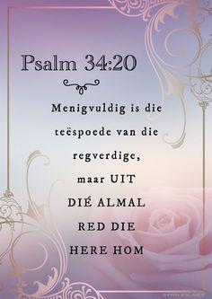#afrikaans #psalms #Bybel Psalm 34, Afrikaans, Place Cards, Place Card Holders, Afrikaans Language
