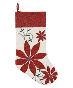 Look what I found on #zulily! Red Poinsettia Stocking #zulilyfinds