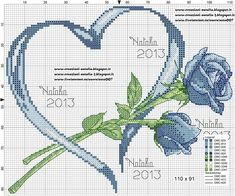 Cross-stitch Heart & Roses...    Creazioni-Natalia — «portafedi-rose-cuore-blu.jpg» на Яндекс.Фотках
