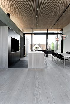 Casa Spodsbjerg in Rudkøbing, Denmark by Arkitema Architects, 2010, There's a stillness about this house that evokes a feeling of introspection - Diensen Douglas floors used throughout