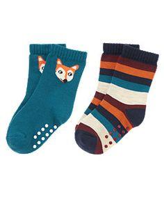 Fox Stripe Sock Two-Pack (Gymboree 3m-5T)