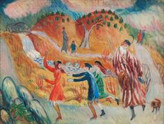 William Glackens, Children Roller Skating, after 1913,  Oil on canvas ,NSU Art Museum Fort Lauderdale; gift of the Sansom Foundation, 92.37 © 2015 NSU Art Museum Fort Lauderdale