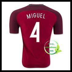 Billige Fotballdrakter Portugal MIGUEL 4 Hjemmedraktsett UEFA Euro 2016