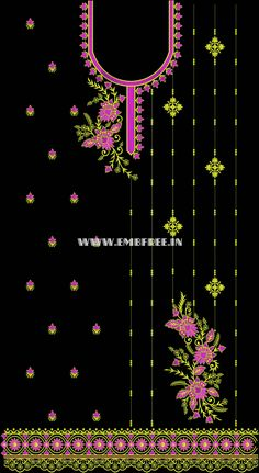 Dress Embroidery Designs-single head Bead Embroidery Patterns, Hand Embroidery Stitches, Hand Embroidery Designs, Embroidery Dress, Beaded Embroidery, Bell Design, Fabric Painting, Painting Techniques, Designs To Draw