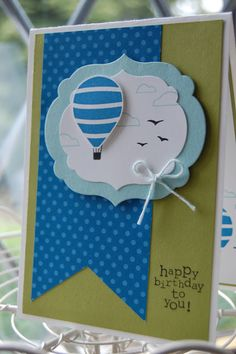 Stampin' Up! Birthday  by Kerry at Stampin'spiration: Up Up and Away
