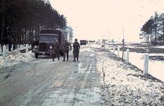 Deutsche Kolonne im Winter 2