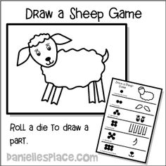 Parable of the Lost Sheep Craft, Elementary Bible Craft