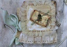 Beautifol Vintage Premade Scrapbook Journal Album Fabric Lace Prima Khatsart  http://www.ebay.com/itm/111134749661?ssPageName=STRK:MESELX:IT&_trksid=p3984.m1558.l2648