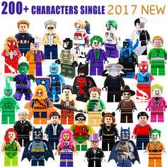 DC Marvel Super Heroes Joker Batman Captain America Spiderman Harley Quinn Building Block Figures Toys Children Gift  Price: 0.80 USD