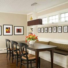 20 Ideas For Family Picture Displays. Dining Room BanquetteBench ...