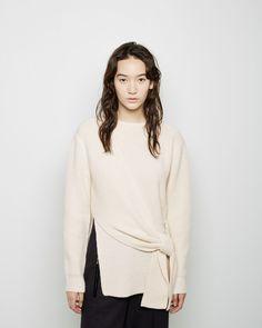 3.1 PHILLIP LIM | Side Knot Sweater | Shop at La Garçonne