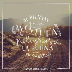 La aventura es la mejor de las medicinas. #travel #viajar #viajes #quote #frases  Adventure is the best cure to everything.