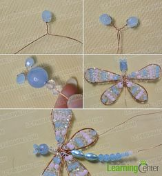 make the first part of the beaded dragonfly hanging ornament