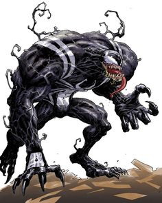 Browse the Marvel Comics issue Venom: Flashpoint Learn where to read it, and check out the comic's cover art, variants, writers, & more! Comic Villains, Comic Book Characters, Marvel Characters, Comic Character, Comic Books Art, Comic Art, Book Art, Character Design, Manga Anime