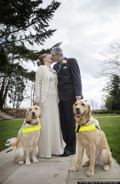 If it weren't for their four-legged friends, these happy couples might never have crossed paths.