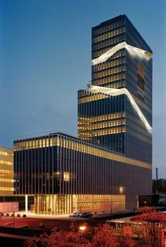 Mahler 4 Office Tower - Amsterdam, The Netherlands by Rafael Vinoly Architects Office Building Architecture, Futuristic Architecture, Facade Architecture, Beautiful Architecture, Contemporary Architecture, Office Buildings, Classical Architecture, Unique Buildings, Amazing Buildings