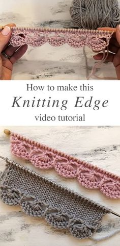 Knitting Decorative Edge You Will Love This knitting decorative edge is a popular project because it beautifies objects and accessories. Watch this tutorial to learn this knitting edge. Easy Knitting Projects, Knitting Designs, Knitting Patterns Free, Knit Patterns, Knitting Ideas, Crochet Projects, Designer Knitting Patterns, Diy Crafts Knitting, Diy Crafts Crochet