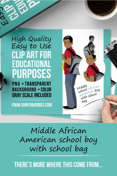 Middle-School-African-American-Boy-with-School-Bag-Pin
