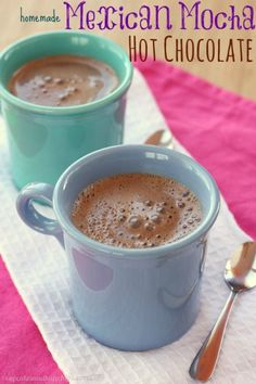 Homemade Mexican Mocha Hot Chocolate | cupcakesandkalechips.com | #hotchocolate #cocoa #glutenfree #vegan