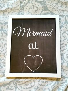 Mermaid at heart 3 quote 8.5 x 11 inch wall art by StarrJoy16