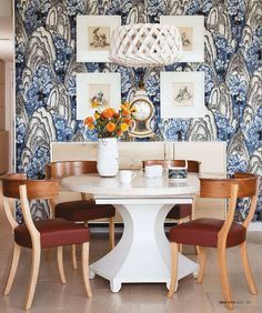 Dining Room, Breakfast room, eclectic chic, Canadian House and Home, Designer Jill Greaves